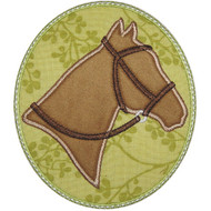 Horse Cameo Applique