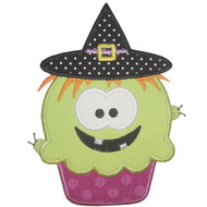 Witch Cupcake Applique