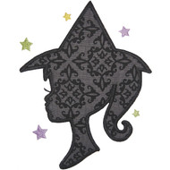 Witch Silhouette Applique