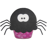 Spider Cupcake Applique