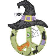 Peace Witch Applique