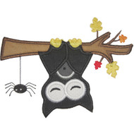 Hanging Bat Applique