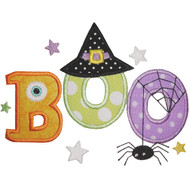 Cute Boo Applique