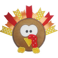 Ribbon Turkey Appplique