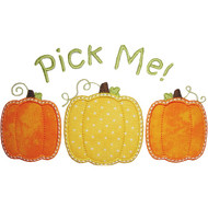 3 Pumpkins Applique