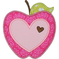 Valentine Apple Applique