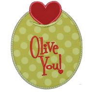 Olive You Applique