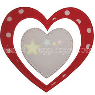 Double Heart Applique