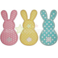 3 Bunnies Applique