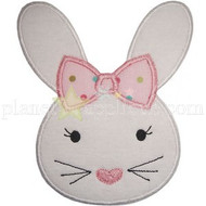 Girl Bunny Face Applique