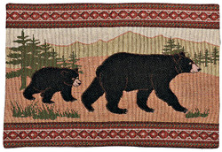 Black Bear Placemats, Set of 6