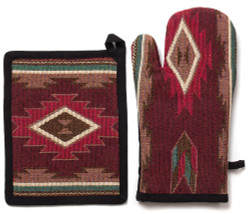 Taos Pot Holder and Oven Mit
