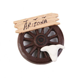 Wagon Wheel Skull Magnet