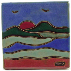 "Mara Tile Trivet 6""X6"" - Mountains"