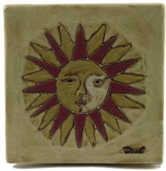 """Mara Tile Trivet 6""""X6"""" - Sun"""
