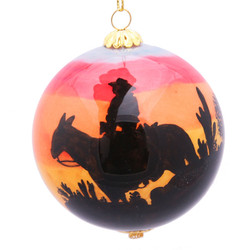 "Sunset Cowboy - 3"" Ornament Set of 2"