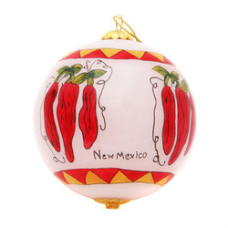 "Chilies - 3"" Ornament Set of 2"