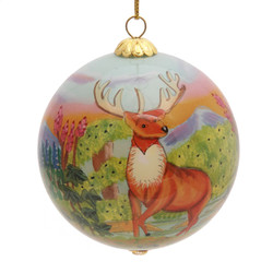 """Spring Deer - 3"""" Ornament Set of 2"""