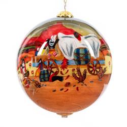 "Cowboy Storyteller - 4"" Ornament Set of 2"
