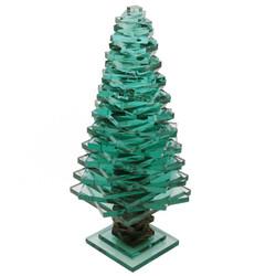 "Glass Pine Tree - 12"""