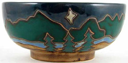 Mara Serving Bowl 72oz - Mountains