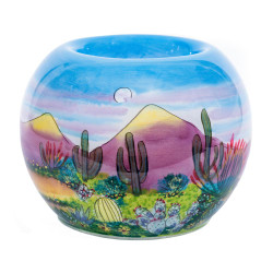 "Desert Scene - 3"" Votive Set of 2"