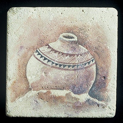 "Ancient Pottery #3 4""x4"" Deco Tile"