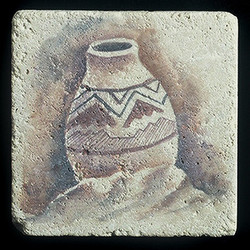 "Ancient Pottery #4 4""x4"" Deco Tile"