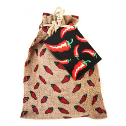 Pistachios in chili print burlap-Case of 6