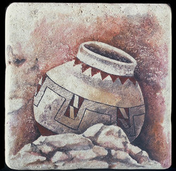 "Pueblo Pot 8""x8"" Deco Tile"