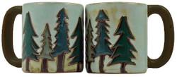 Mara Mug 16oz - Pine Trees