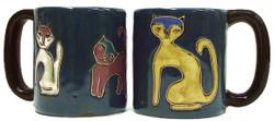 Mara Mug 16oz - Cats Blue
