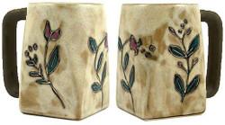 Mara Square Mug 12oz - Wild Flowers