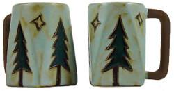 Mara Square Mug 12oz - Pine Trees