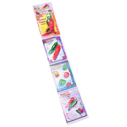 Chili Pepper Seeds, 4 Pack Strip