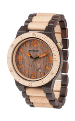 Alpha Choco Beige Wood Watch