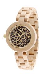 Pardus Beige Wood Watch