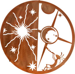 Kokopelli Sun Moon