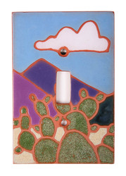 Prickly Pear with Clouds Switch Plate Cover