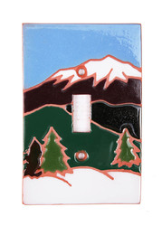Snow Cap Mountains Switch Plate Cover