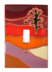 Joshua Tree Orange Switch Plate Cover