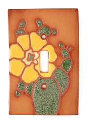 Yellow Cactus Flower Switch Plate Cover