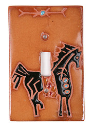 Petroglyph Horse Switch Plate Cover