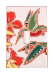 Two Hummingbirds Switch Plate Cover