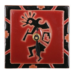 Kokopelli Petroglyph Desk Clock