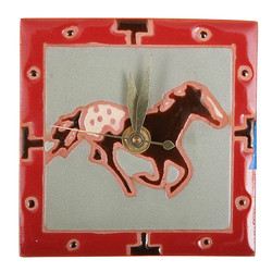 Running Horse with Border Desk Clock