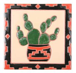 Cactus Pottery Trivet