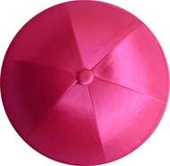 Hot Pink Satin Kippah