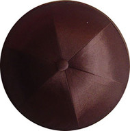 Dark Brown Satin Kippah