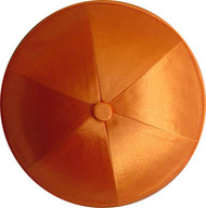 Orange Satin Kippah